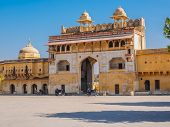 picture of india gate  - The Gate to Amber Fort in Jaipur Rajasthan India - JPG