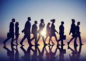 picture of commutator  - Business People Commuting Rush Hour Concept - JPG