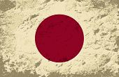 foto of japanese flag  - Japanese flag Grunge background - JPG