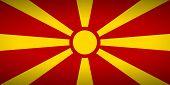 foto of macedonia  - The state flag of Macedonia - JPG
