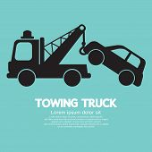 foto of towing  - Car Towing Truck Vector Illustration - JPG