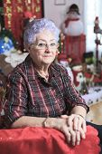picture of crippled  - A Portrait of a happy senior woman at home - JPG