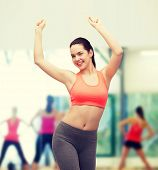 picture of zumba  - fitness and diet concept  - JPG