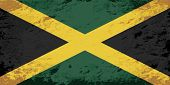 picture of jamaican flag  - Jamaican flag Grunge background - JPG