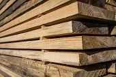pic of timber  - Stacked wood pine timber for furniture production and construction - JPG