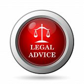 stock photo of judiciary  - Legal advice icon - JPG