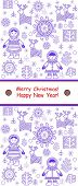 picture of eskimos  - Greeting winter vertical card with eskimo - JPG