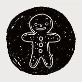 picture of ginger man  - Gingerbread Man Doodle - JPG