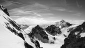 foto of tit  - Titlis snow mountains black and white in Engelberg Lucerne Switzerland