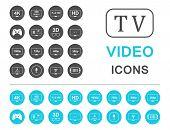 stock photo of tv sets  - Television set symbols isolated on white background - JPG