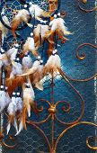 stock photo of dream-catcher  - Color feathers  - JPG