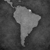 Постер, плакат: Map Of South America French Guiana