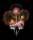 foto of firework display  - Fireworks display for new year and celebration event - JPG