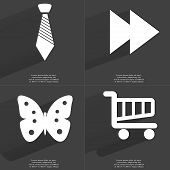 picture of towing  - Tie Tow arrows media icon Butterfly Shopping cart - JPG