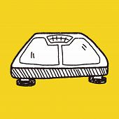 picture of obese children  - Weight Scale Doodle - JPG