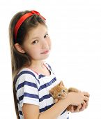 pic of kitty  - girl with red kitty - JPG