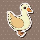 stock photo of duck  - Animal Duck Cartoon Theme Elements - JPG