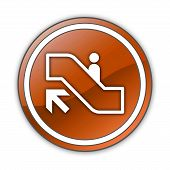 foto of escalator  - Icon Button Pictogram with Escalator Up symbol - JPG