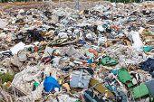 image of dump  - Large garbage dump outside of the city - JPG
