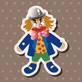 pic of circus clown  - Circus Clown Theme Element - JPG