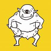 image of ogre  - Giant Ogre Doodle - JPG