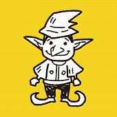 image of elf  - Elf Doodle - JPG