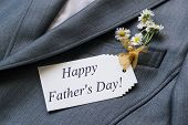 stock photo of jacket  - Surprise for Father - JPG