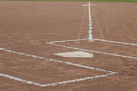 foto of softball  - Distance from home to first base on a softball field - JPG
