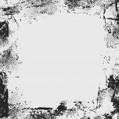 pic of smut  - grunge frame or border on grey background - JPG