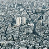 Center of huge city. Damascus