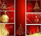 stock photo of christmas wreath  - Merry Christmas and Happy New Year collection - JPG