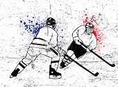 picture of ice hockey goal  - hockey vector poster - JPG