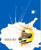 Постер, плакат: гонки векторные плакат 2
