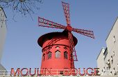 stock photo of moulin rouge  - The famous cabaret Moulin rouge in Paris France - JPG