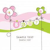 foto of cute baby  - Baby arrival card - JPG