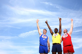 picture of gold medal  - Athletes with medals - JPG