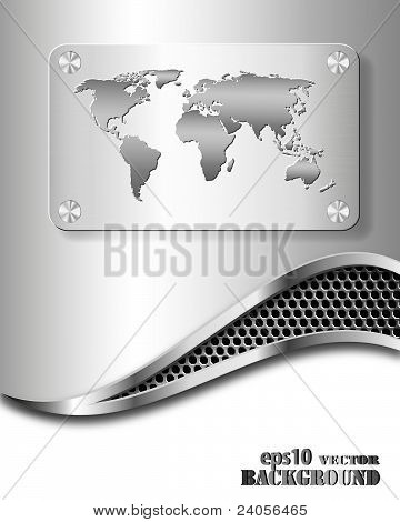 Abstract metallic business background with world map poster id24056465 abstract metallic business background with world map poster gumiabroncs Images