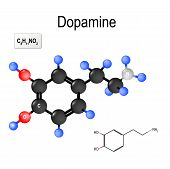 Dopamine (da, Dihydroxyphenethylamine) Is An Organic Chemical Of The Catecholamine And Phenethylamin poster