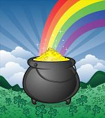pic of end rainbow  - The magical pot of gold at the end of the rainbow - JPG