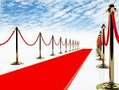 Red carpet. 3D image.