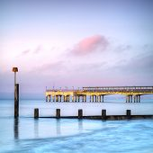 Boscombe Pier At Twilight, Bournemouth, Dorset England poster