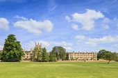 Part Of Merton College, Oxford, Seen Across Christ Church Meadow On A Fine Spring Day. Merton Has A  poster