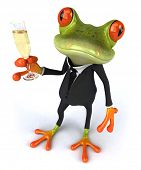pic of glass frog  - Frog and champagne - JPG