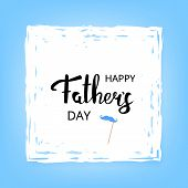 Happy Fathers Day Card. Vector Illustration. poster