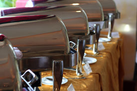 pic of chafing  - photograph of chafing dish at buffet restaurant