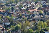 Aerial Top View Of A Residential Area In The European City Of Germany. European Housing, A Cute Euro poster