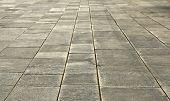 foto of stone floor  - big stones floor promenade perspective on horizontal view  - JPG