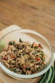 Thai Southern Spicy Budu Salad And Herb At Market poster