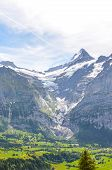 Summer Alpine Landscape Above Grindelwald In Switzerland. Taken On The Trail Leading To Bachalpsee L poster