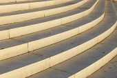 Curved Staircase. Stair-step Architectural Structure. Architectural Background. poster